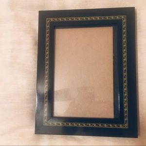 Burns Black and Green Patterned Picture Frame